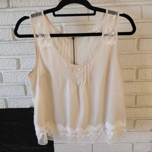 Urban outfitters Lacy shell tank